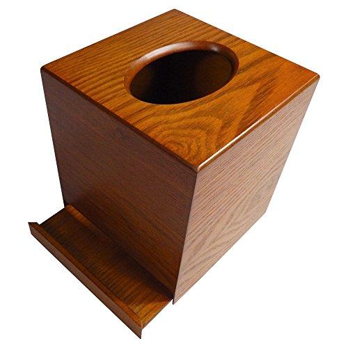 Tomokazu Powell Oak Wood Boutique Facial Tissue Box Cover/Wooden Holder/Paper Dispenser by Tomokazu (Image #3)