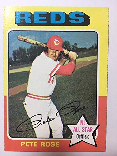 1975 Topps #320 Pete Rose Exmt or Better Condition No Creases Big Red Machine ()