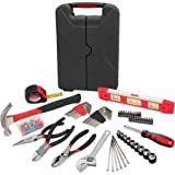 Mechanic tool set has 90-piece fastener set with one plastic case and Hyper Tough 150-Piece Homeowner Tool Set