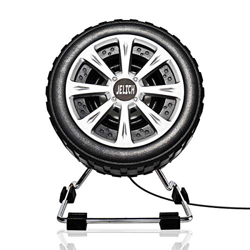 JELICH Tire Shape Computer Speakers - Wired USB Powered Multimedia Small Speakers with light music needs for PC /Desktop /Laptops /Smart Phone by JELICH
