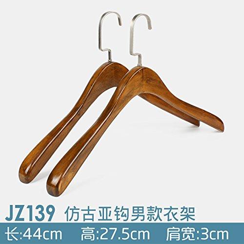 U-emember Home Suits Non-Slip Wooden Coat Hangers Wooden Pol