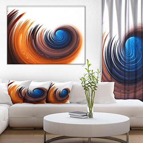 Elegant Spiral Design Abstract Canvas Art Print by Design Art