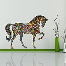 ufengke® Pattern Horse Wall Decals, Living Room Bedroom Removable Wall Stickers Murals