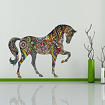 Ufengke Pattern Horse Wall Decals, Living Room Bedroom Removable Wall  Stickers Murals