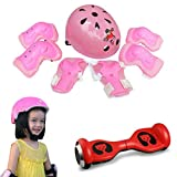 Changeshopping 7pcs Kid Child Self Balancing Bike Roller Knee Elbow Wrist Helmet Pad (Pink)