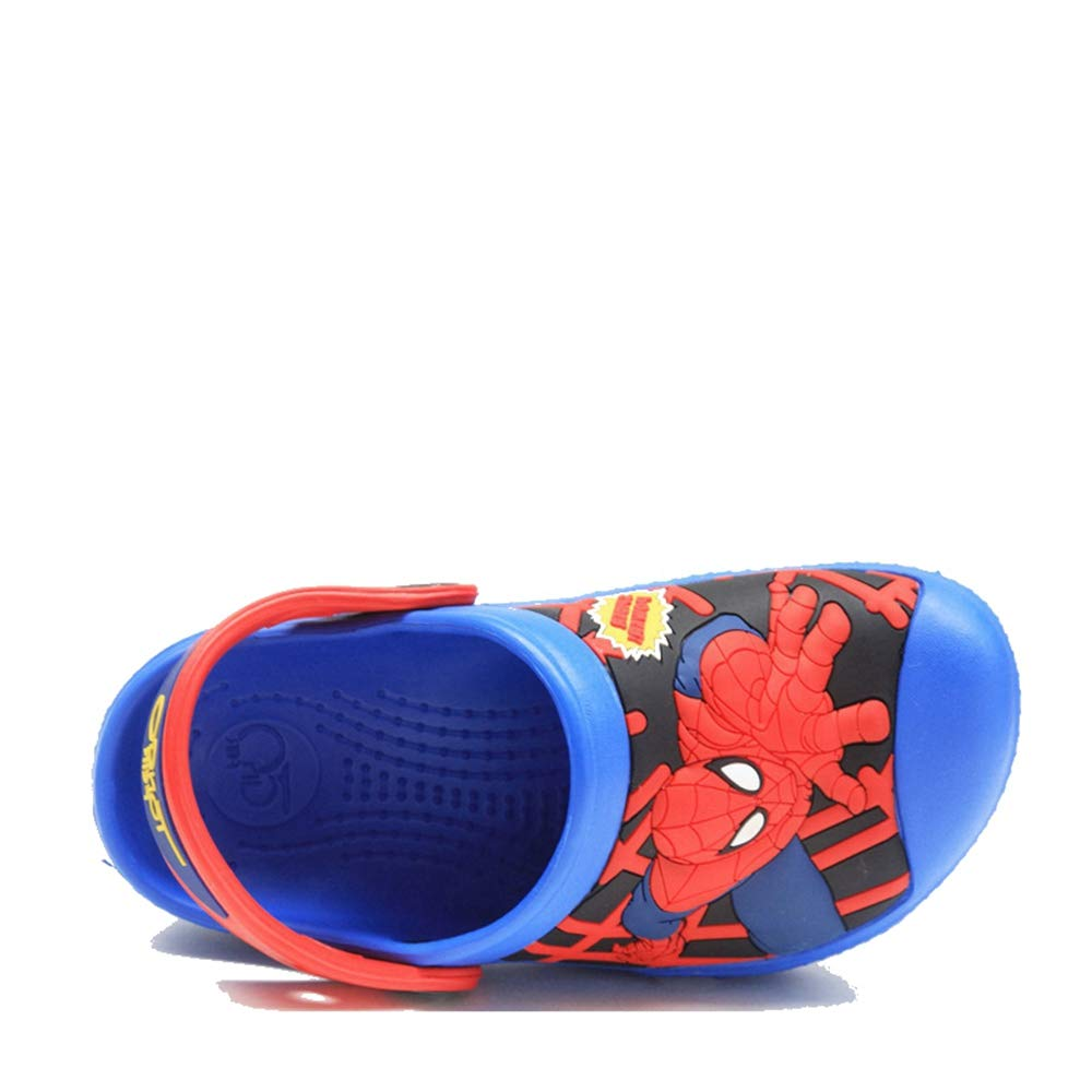 ROKIDS Kids Spiderman Hole Shoes Toddlers Boys Beach Sandals Clogs