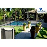 Sentry Safety DIY Pool Fence by EZ-Guard 4' 12' Long Removable Child Barrier Pool Safety Mesh Fence (Black)