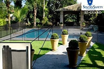 sentry safety pool fence ez guard 5 tall 10 long removable child barrier - Removable Pool Fence