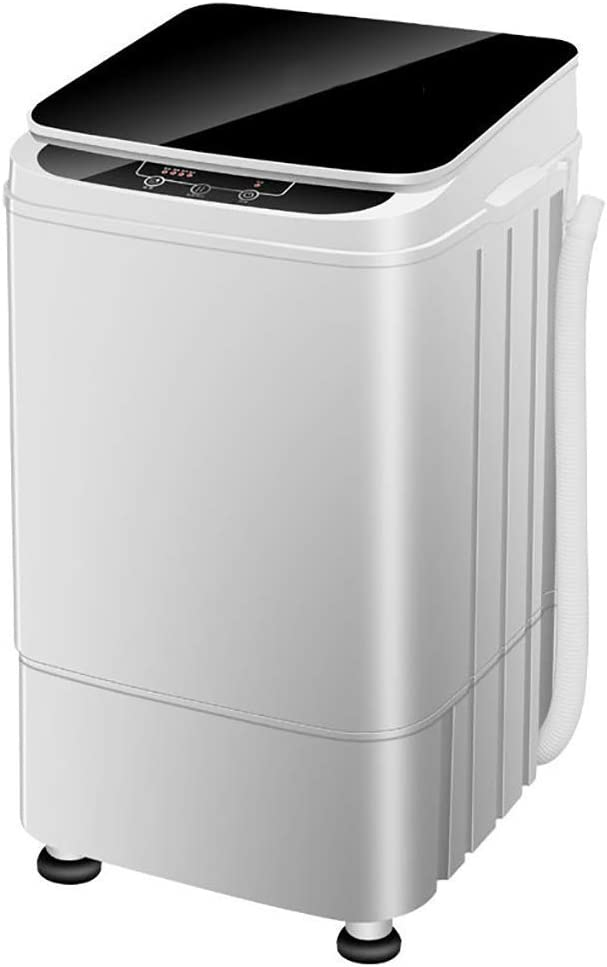 XHCP Portable Washing Machine Portable Semiautomatic Washing Machine Portable Mini Laundry Washing Machine 9.9lbs Capacity Small Semi-Automatic Compact Washer for Apartment,RV,Traveling,White