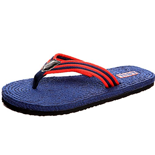 Men's Shoes Feifei Summer Non-Slip Personality Fashion Soft and Comfortable Outdoor Leisure Beach Slippers 3 Color Optional Blue MQDyY