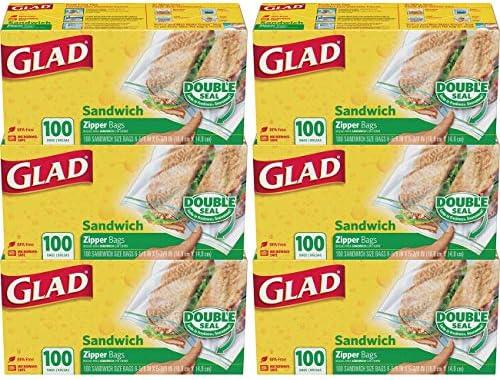 Glad Storage Sandwich Zipper Count product image