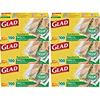 6 Pack Glad Zipper Food Storage Sandwich Bags 100 Count