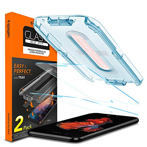 Spigen Tempered Glass Screen Protector [Glas.tR EZ Fit] Designed for iPhone 8 Plus (2 Pack)
