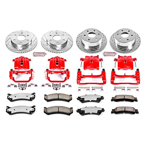 Power Stop KC2010A-36 Front & Rear Z36 Truck and Tow Brake Kit with Calipers