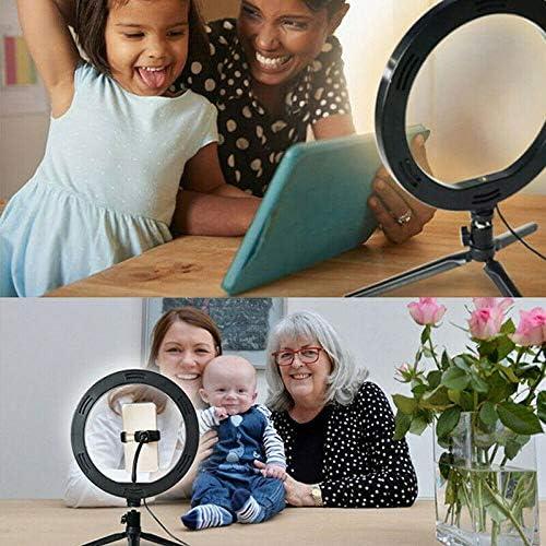 Mini c/ámara de Escritorio con luz de Anillo para Video de Youtube 10 Selfie Ring Light con Soporte para tr/ípode y Soporte para tel/éfono Celular para transmisi/ón en Vivo//Maquillaje