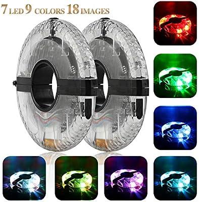 Impermeable USB Recargable LED Bicicleta Rueda Luces 3 Modos Ciclismo Bicicleta radios luz Seguridad luz Magia decoraci/ón luz Accesorios de Bicicleta Luces Tagvo Ciclismo luz Hub