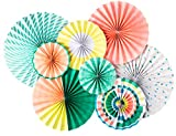 neon fans - My Mind's Eye Neon Double Sided Party Fans, NEP401 Set of 8 Fans