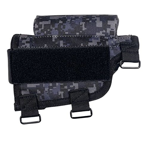 VooDoo Tactical 20-9421081000 Buttstock Cheek Piece With Ammo Carrier, Urban Digital Buttstock Cover