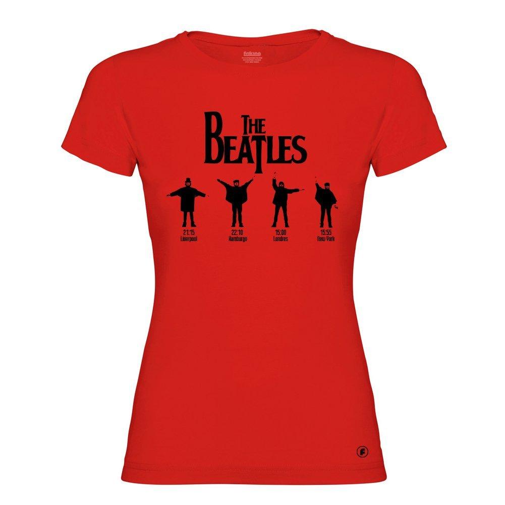 Gaamers Camiseta Mujer Divertida The Beatles - Serigrafía Alta Calidad: Amazon.es: Ropa y accesorios
