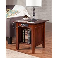 Atlantic Furniture AH14314 Nantucket End Table Rubber Wood, Walnut