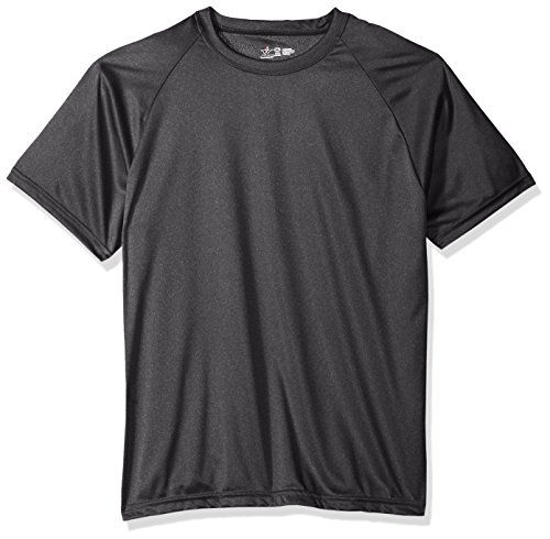 Practice Black Youth T-shirt (Alleson Ahtletic Youth Heather Tech Short Sleeve T-Shirt, Black, Large)