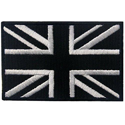 Tactical British Union Jack Embroidered Patch England Flag UK Great Britain Morale Applique Fastener Hook & Loop Emblem (Jack Union Badges)