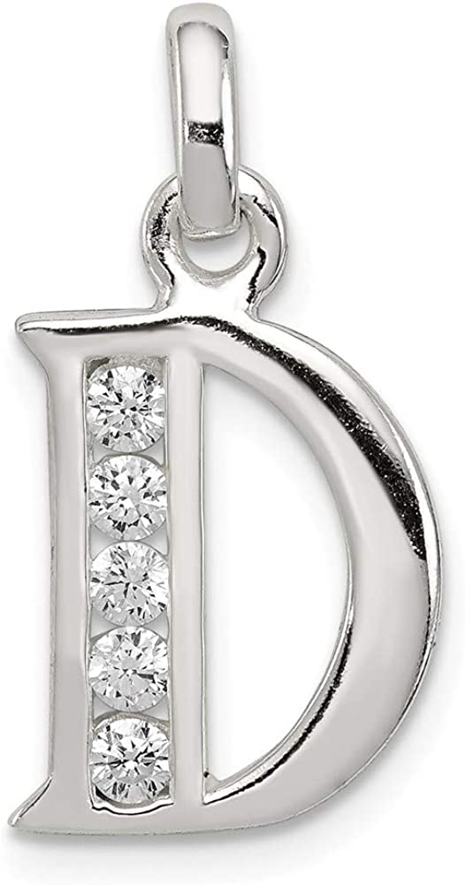 .925 Sterling Silver Childrens Preciosa Crystal May Cross Charm Pendant