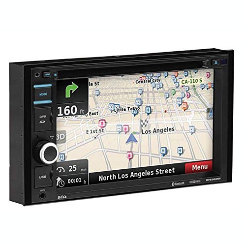 BOSS Audio Systems BV9382NV Double Din, Touchscreen, Bluetooth, Navigation GPS, DVD CD MP3 USB SD AM FM Car Stereo, 6.2 Inch Digital LCD Monitor, Wireless Remote (2012 Chrysler Town And Country Navigation System)