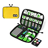 BAGSMART Travel Organizer for Electronics Accessories Hard Drives - Yellow