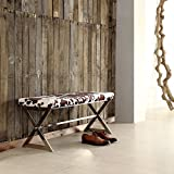 Inspire Q 40 in. X-Base Cow Hide Bench