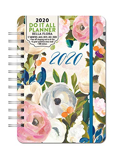 Orange Circle Studio 2020 Do It All Planner, August 2019 - December 2020, Bella Flora