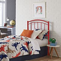 Fashion Bed Group Rylan Tomato Red Full Metal Kids Headboard