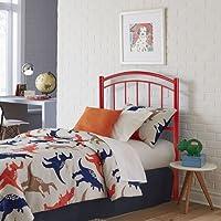 Fashion Bed Group Rylan Tomato Red Full Metal Kids Headboard