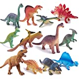 Peruser Toy 12 Pack Educational Dinosaur Toy Box, Including T-Rex ,Triceratops, etc.Birthday Present, Or Party Favor