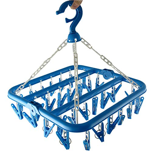 Clip and Drip Hanger Clothes Hanger Drying Rack 32 Clips