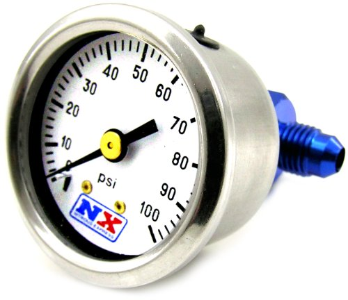 Nitrous Express Install - Nitrous Express 15512 0-100 psi Fuel Pressure Gauge with Manifold