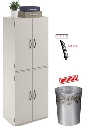 aa9e79dacaeb Storage Cabinet - Spacious, Ample Storage for Kitchen Accessories and Pantry  Items Behind Four Doors