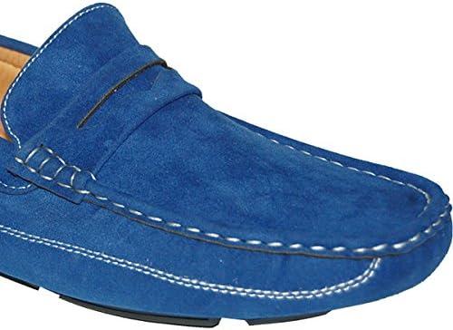 8c43e917755f1 KRAZY SHOE ARTISTS Blue Penny Loafer Slip On Mens Driver, Size 13 ...