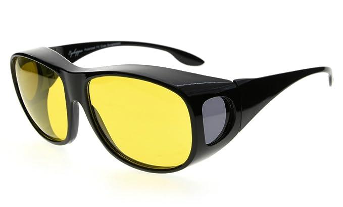 Eyekepper Retro estilo polarizado fotocrómico grandes lentes sueño fitover azul luz bloqueo gafas y gafas de
