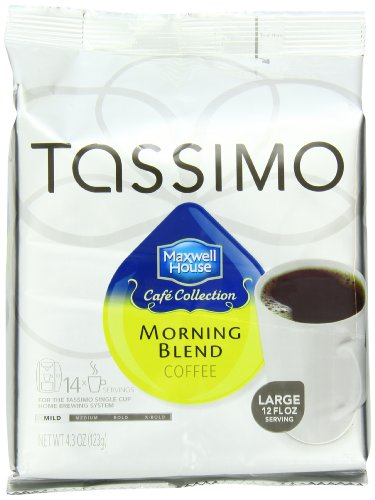 Maxwell House Cafe Collection Morning Blend, 14-Count T-Discs for Tassimo Brewers (Pack of 3), Package May Vary (Cafe Collection)