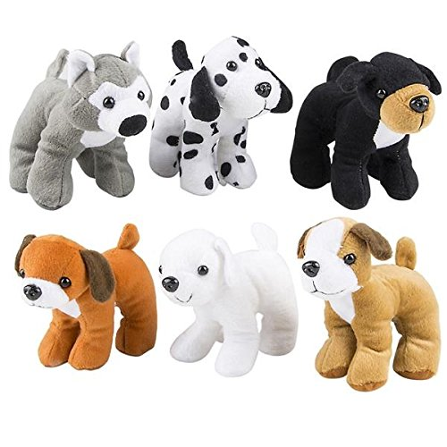 Stuffed Animals Plush Dogs - Pack Of 12 Assorted Puppies Bulk Party Favor, Cute Assortment For Kids And Toddlers, Fun, Toy, Gift, Prize
