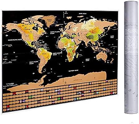 mappa del mondo da grattare Mappa del mondo regalo per viaggiatore