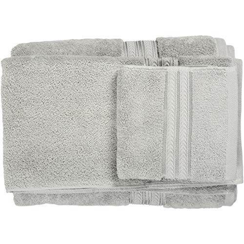 Better Homes Gardens Thick Plush Solid Bath Collection,6-Piece Set,Soft Silver