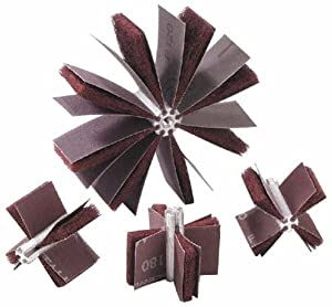 Merit Abrasive Products 08834154092 - Bore Polisher - 80 Grit, Max Bore 1-1/2 in dia, Min Bore 1 in dia