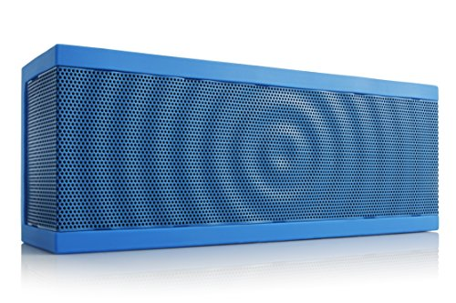 SoundBlock Custom Bluetooth Wireless Stereo Speaker for Computers and Smartphones. Bluetooth 3.0 Technology with Built-in Speakerphone and 10 Hour Rechargeable Battery. In Blue/Blue