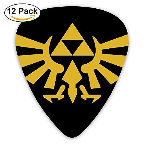 Guitar Hero Van - Grace Little The Legend Of Zelda Tri Force Heroes Logo Colorful Celluloid Guitar Picks Plectrums For Guitar Bass 12 Pack