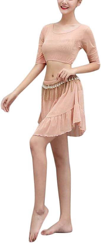 QitunC Traje De Danza Contemporánea para Mujer Baile Conjunto Top ...