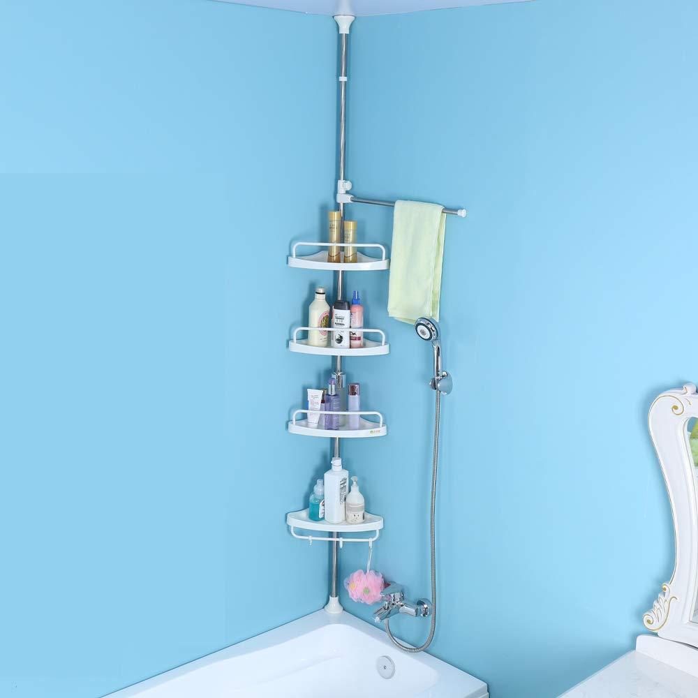Amazon.com: JoYo Constant Tension Corner Shower Caddy, Adjustable ...