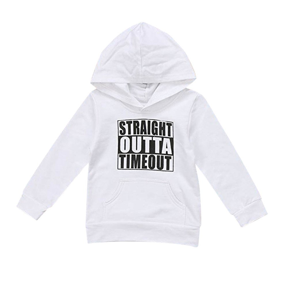 Toddler Baby Boys Girls Hooded Sweatshirts Infant Letter Blouse Hoodies Tops Jumper Shirt Kids Cloth New