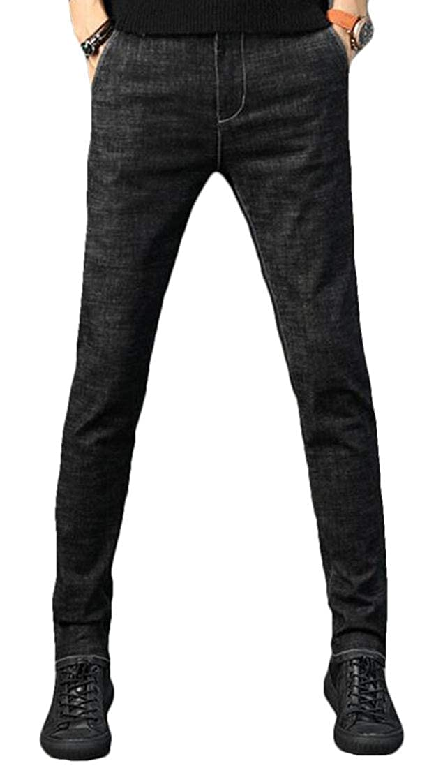 One EJLJ Men Men Men Stretch Straight Leg Casual Winter Slim Denim Jeans Pants 3c231e